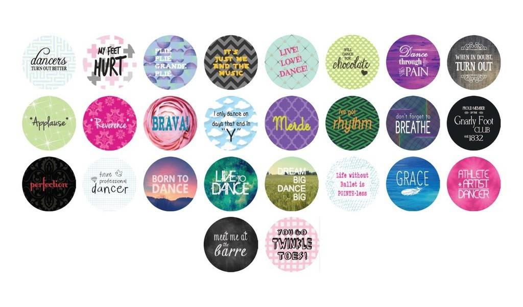 B Plus 650CC01-Chit Chat Magnet 26 sayings for dancer