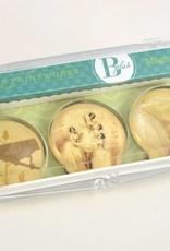 B Plus 503VIN04-Aimants en Verre Vintage Marie Taglioni 3 Par boîte-Pas De Quatre