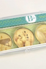 B Plus 503VIN04-Vintage Marie Taglioni Glass Magnets 3 Per Box-Pas De Quatre