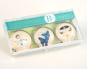 B Plus 504BP05-Ballet Papier Glass Magnets 3 Per Box-Giselle Free