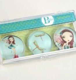 B Plus 504BP07-Aimants en Verre Ballet Papier 3 Par Boîte-Ambar Fairy