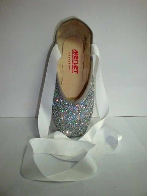 Merlet PULSION-Silver Glitter Pointe Shoes-ONE SIZE
