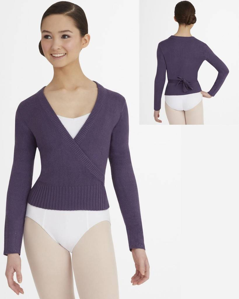 Capezio CS301-Long Sleeve Wrap Sweater Adult
