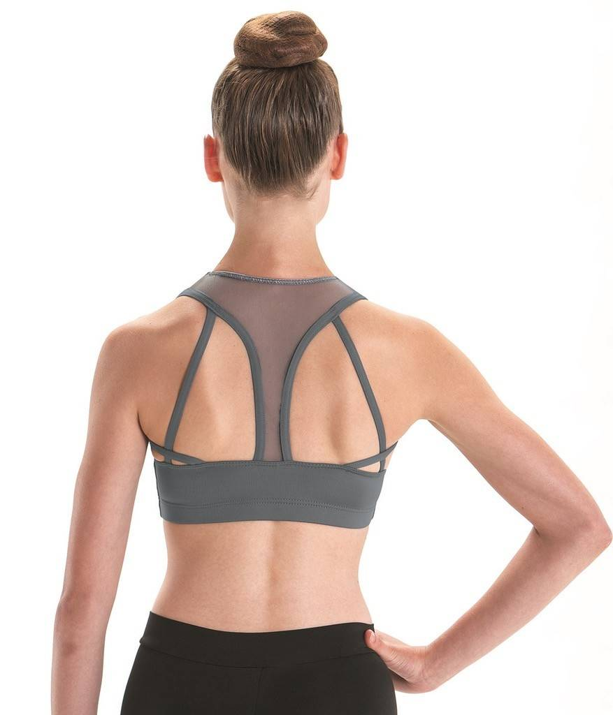 MotionWear 3463-High Neck Strappy Racerback Bra Top Adult