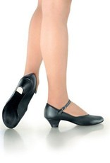 "SoDanca CH02-Ballroom Shoes 1.25"" (Practice) Suede Sole, BLK"