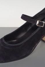 """Angelo Luzio 915S-Flamenco Suede Shoes 2.25""""-BLK/SUEDE"""