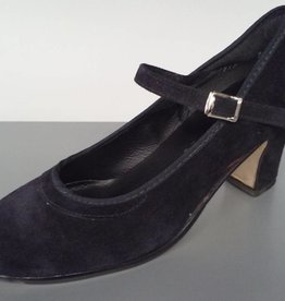 "Angelo Luzio 915S-Chaussures de Flamenco en Suède 2.25""-NOIR"