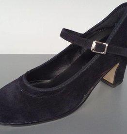 """Angelo Luzio 915S-Flamenco Suede Shoes 2.25""""-BLK"""