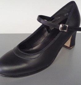 "Angelo Luzio 915L-Flamenco Leather Shoes 2.25""-BLK"