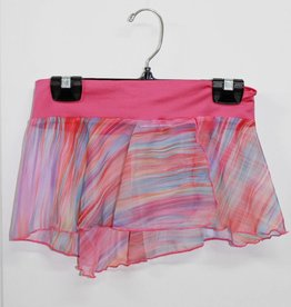 MotionWear 1366-697-Half-circle side slit Skirt-Rainbow PINK
