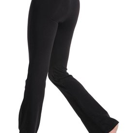 Mondor 1610-Jazz Pants with Flare Leg and a V waist Child-BLACK