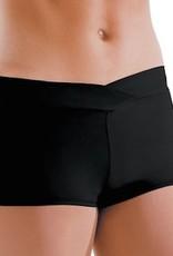 MotionWear 7121-V-Waist Shorts Child-BLACK-6X7