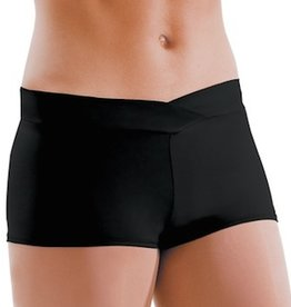 MotionWear 7121-497-V-Waist Shorts Adult-BLACK-XLARGE