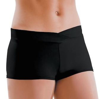 MotionWear 7121-497-V-Waist Shorts Adult-BLACK-XLARGE