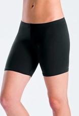 MotionWear 7084-Lower Rise Bike Shorts-BLACK