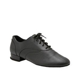 "Capezio BR1000-Ballroom Men Shoes 1"" (Tony Smooth) Suede Sole-BLACK"