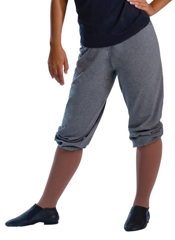 MotionWear 3917-Baggy Capri Sweat Pant Adult-BLACK