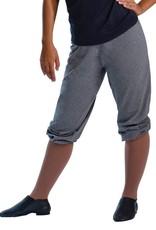 MotionWear 3917-Baggy Capri Sweat Pant Child-BLACK