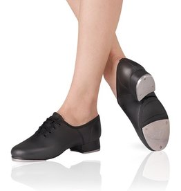 Leo DanceWear LS3006-Split Sole Jazz Tap Shoes-BLACK