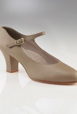 "Capezio 650-Student Footlight Shoes 2""-TAN"
