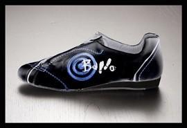 Ballo BALLO FLY-Chaussures de Danse Sport Unisexe Semelle de Suède-NOIR/BLEU
