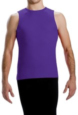 MotionWear 7198-Men's sleeveless fitted top Child-BLACK