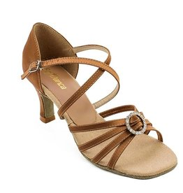 "SoDanca BL130-Ballroom Shoes 2.5""-Suede Sole-COPPER SATIN"