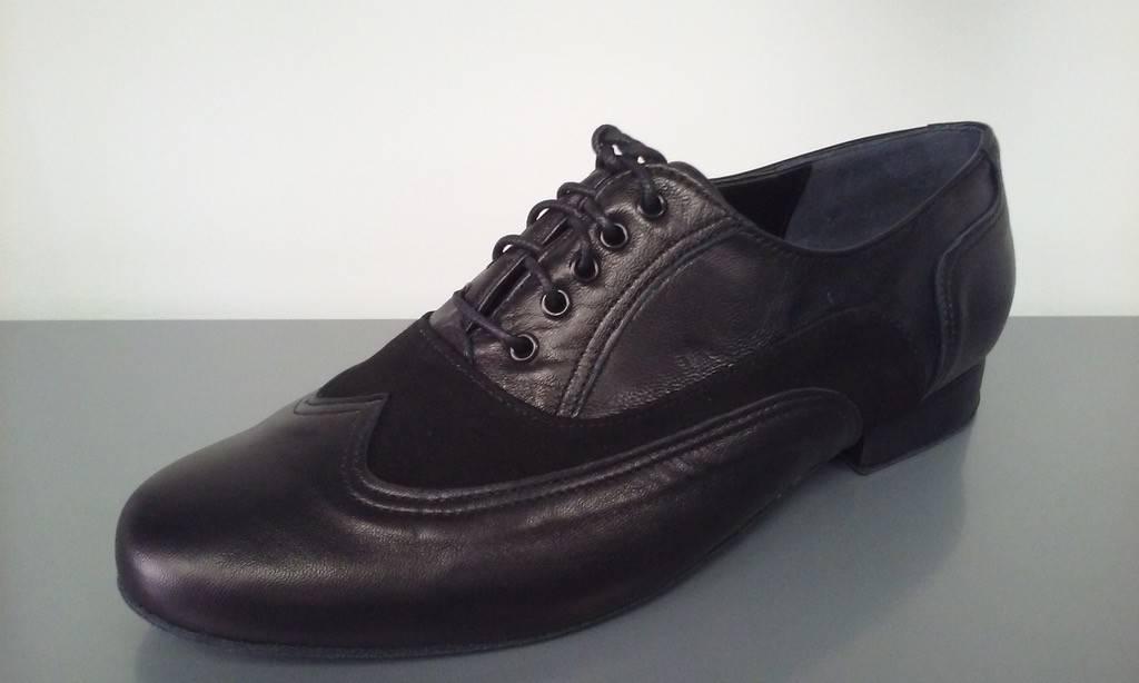 """Anatomica 200-Chaussures de Danse Homme 1 """"Semelle de Suède-CUIR/SUÈDE NOIR"""