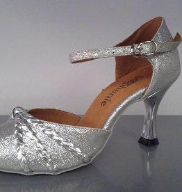 GOGO / Stephanie Dance Shoes 5025-42-Ballroom Shoes 2.5'' Suede Sole-SILVER