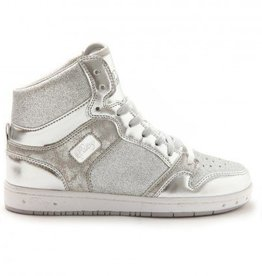 Pastry Dance 152002-Glam Pie Glitter Dance Sneakers-SILVER