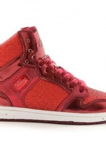 Pastry Dance 152003-Glam Pie Glitter Dance Sneakers-RED