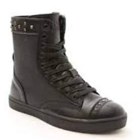 Pastry Dance 161020-Military Glitz Combat Boot Sneaker-BLACK