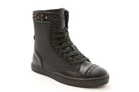 Pastry Dance 161020-Military Glitz Combat Boot Sneaker-BLACK