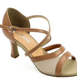 "SoDanca BL158-Rosa Ballroom Shoes 2.5"" Suede Sole-CARAMEL"