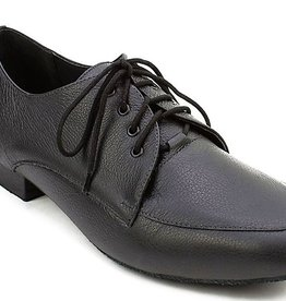 "SoDanca BL102-Robbie Ballroom Men Shoes 1"" Suede Sole-BLACK"
