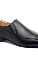 "Merlet ULRICH-Ballroom Men Shoes 1"" Suede Sole-BLACK"