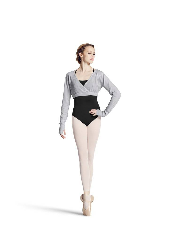 Bloch Z6919-AQUARI Wrap long sleeve Sweater-GREY-LARGE