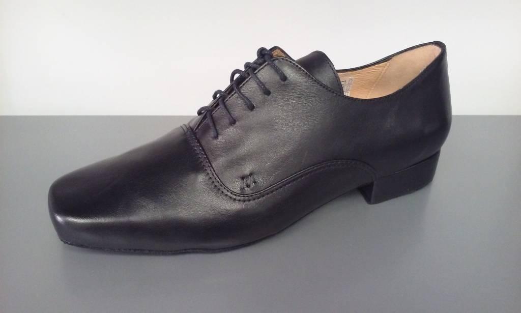 Merlet UDO-Ballroom Men Shoes 1'' Suede Sole Metis Leather-BLACK