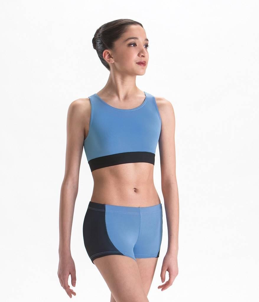 MotionWear 3072-Plush Elastic Cut Out Back bra Top-GREY