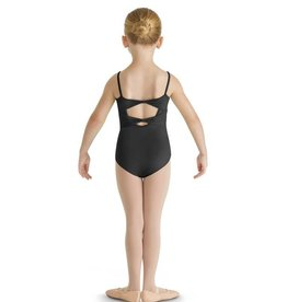 Bloch CL8857-Glitter Bow Tulle Front Twin Bow Back Camisole Leotard-BLACK-8-10