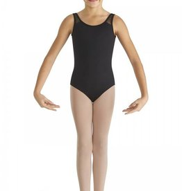 Bloch CL8665-Heart Mesh Back Band Tank Leotard-BLACK-8-10