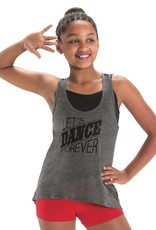 MotionWear 4873-Lets Dance Forever Stripe Tank Child-LARGE CHILD