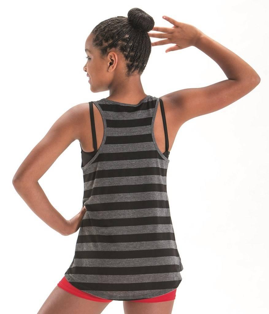MotionWear 4873-Lets Dance Forever Stripe Tank Adult-MEDIUM