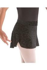 MotionWear 1236-Pull-On Skirt Velour-BLACK