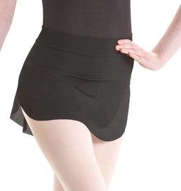 MotionWear 1236-Mesh Pull-On Skirt Adult-BLACK