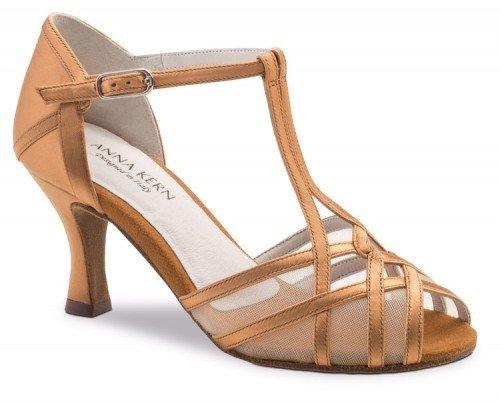 "Anna Kern 640-60-Ballroom Shoes 2.5"" Suede Sole-SATIN BRONZE"