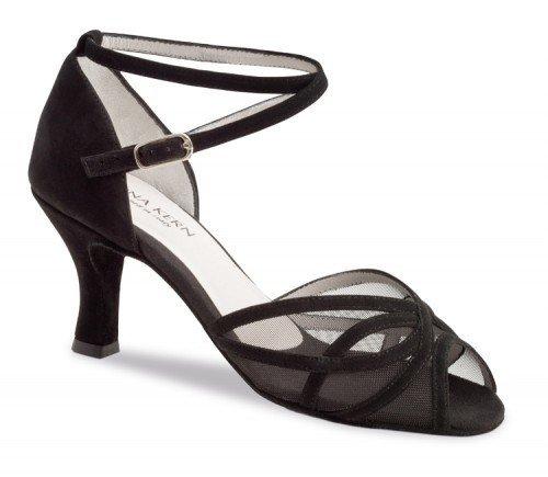 "Anna Kern 740-60-Ballroom Shoes 2.5"" Suede Sole-SUEDE BLACK"