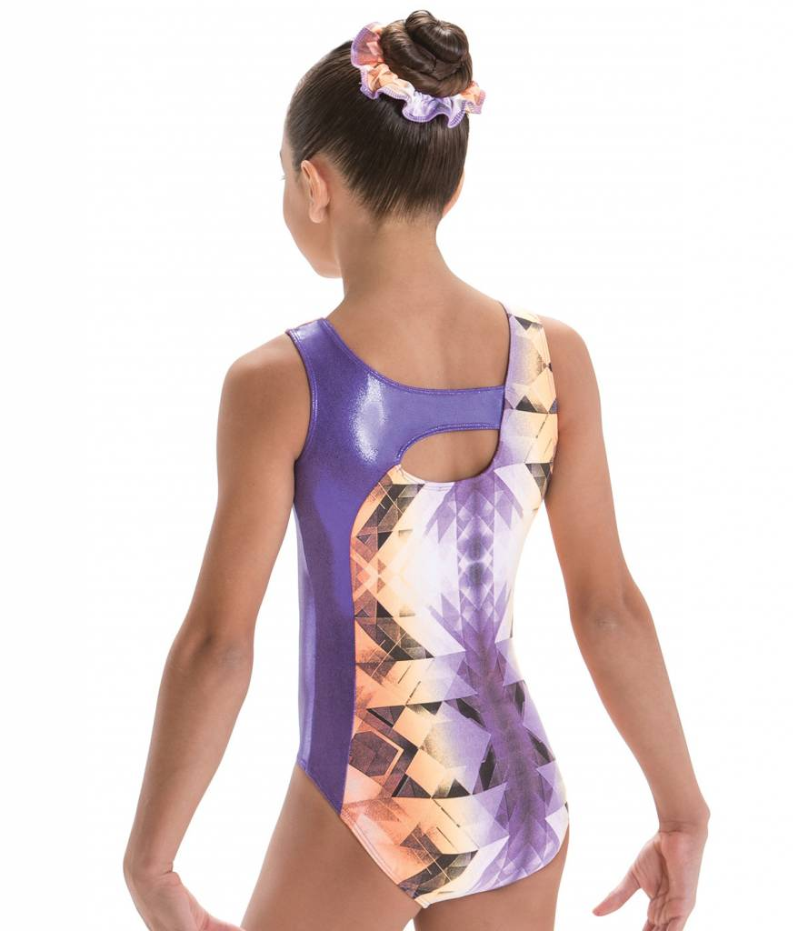 MotionWear 1386-332-Gym Cross Over Keyhole Back leo-HORIZON