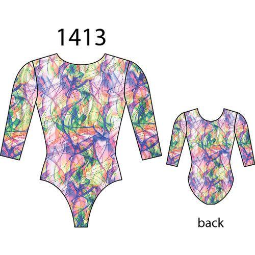 MotionWear 1413-709-Gym 3/4 Sleeve Leo-HAZE-SA