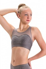 MotionWear 4471-523-Rhinestone Sweetheart Bra-GRAY